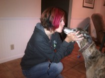 Me and Roxxie - the inspiration for Cyrano in How to Sex Your Snake
