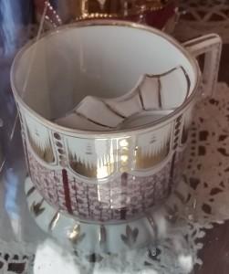 mustache tea cup