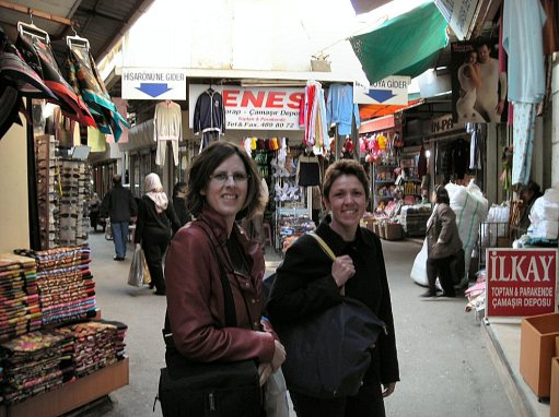 Melissa and Kellie in the Kemeralti